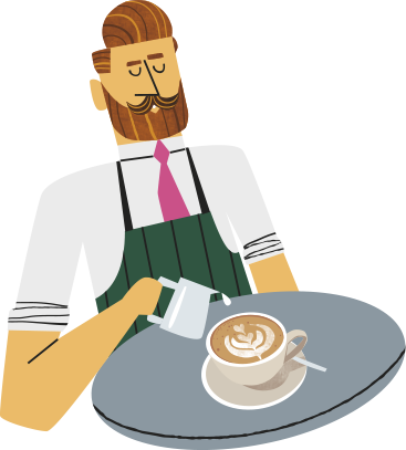 Infographic of Bart, master barista