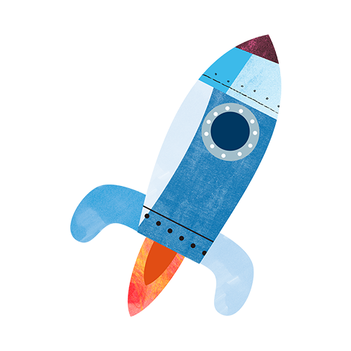 Infographic of a space rocket